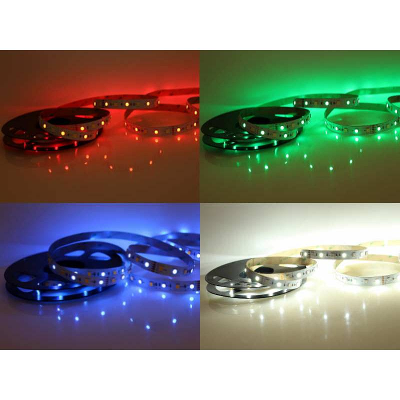 5 Meter LED Band 12V 5050 RGBW RGB + Kaltweiss 60 Leds/M IP20