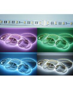 5 Meter LED Strip 24V 5050 RGBW Kaltweiss (4-1 Chip)...