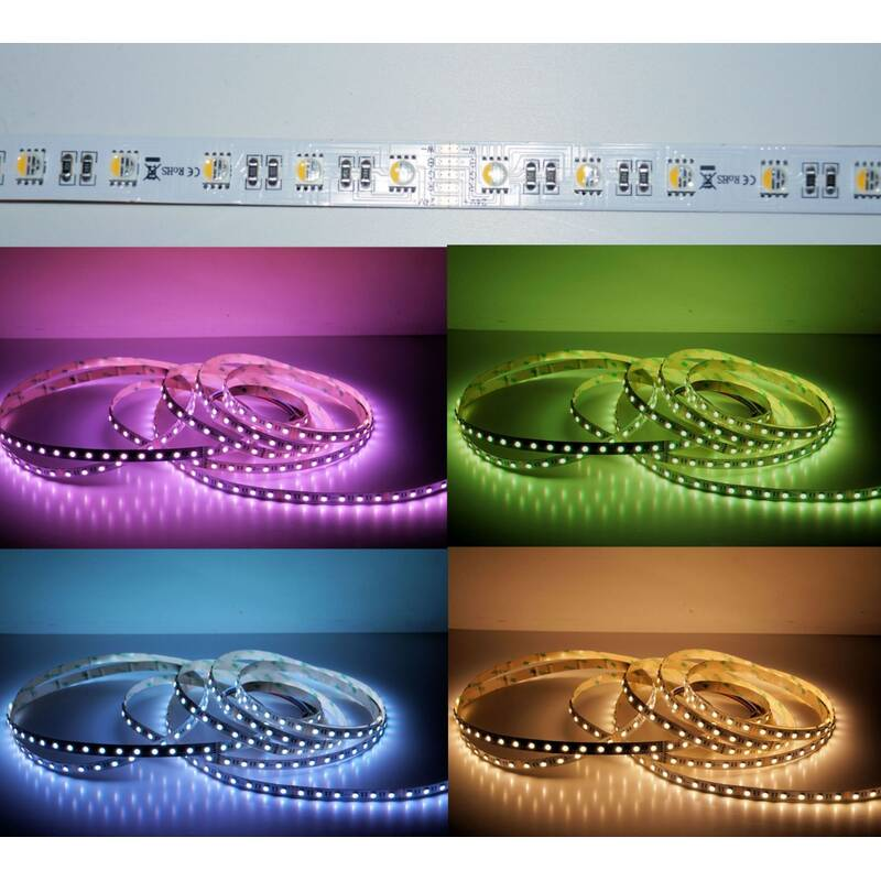 5 Meter LED Strip 24V 5050 RGBW Warmweiss (4 in 1 Chip) 19,2W & 60 Leds/M IP65