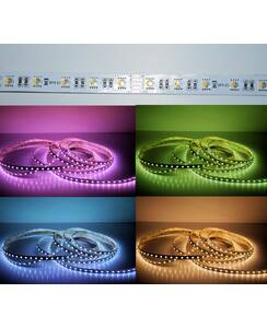 5 Meter LED Strip 24V 5050 RGBW Warmweiss (4 in 1 Chip)...