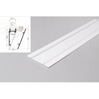 2 Meter LED Profil Wall 10mm -Frontblende weiß lackiert Serie M