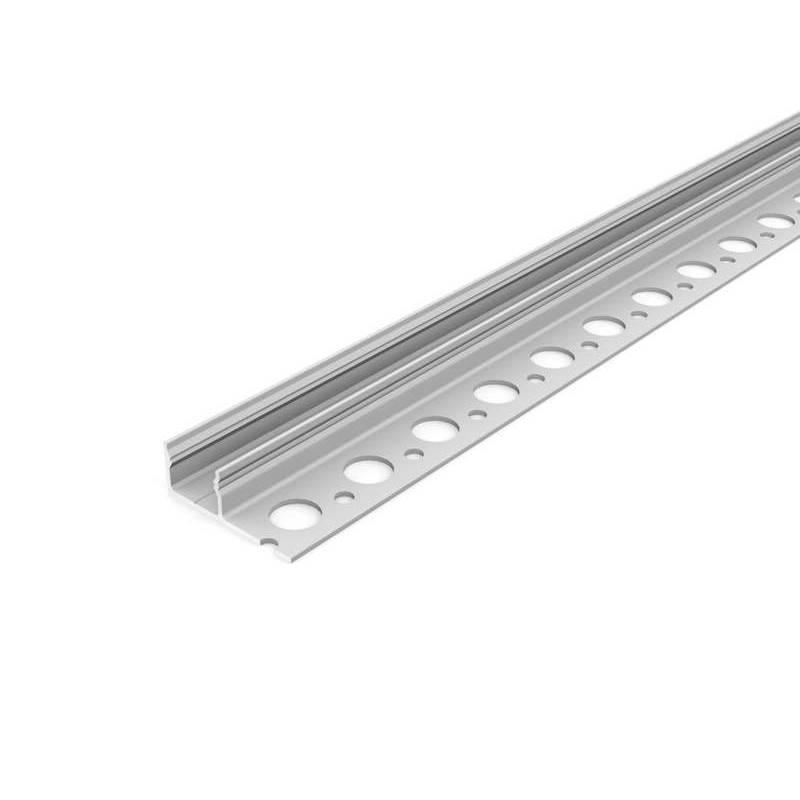 2 Meter LED Profil Fliesen 180° natureloxiert silber ohne