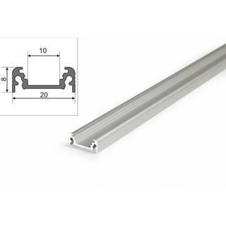 Abdeckung farbige Aluminiumprofil für LED Band Strip Leiste Schiene Alu Profil